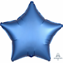 45 cm-es Satin Lux azúrkék csillag fólia lufi / Anagram