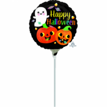 23 cm -es Happy Halloween fólia lufi