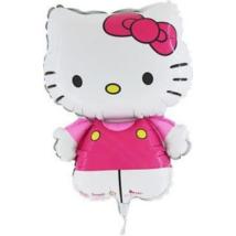 Mini Helló Kitty pink fólia lufi