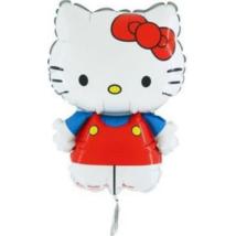 Mini Helló Kitty piros fólia lufi