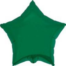 45 cm-es Csillag alakú zöld fólia lufi