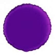 45 cm-es kerek alakú lila  fólia lufi