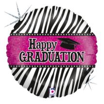 46 cm-es Happy Graduation! fólia lufi