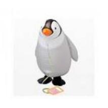 Sétáló pingvin fólia lufi