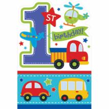 Járműves meghívó borítékkal első születésnapra 15,8 x 10,8 cm 8 db/cs