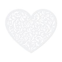 Szív papír dekoráció 13,5x11,5cm 10db/cs.