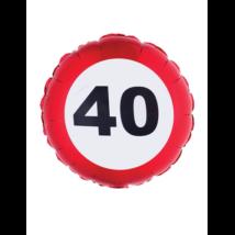 46 cm-es behajtani tilos 40. születésnapra fólia lufi