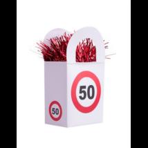 Behajtani tilos 50. születésnapra lufisúly