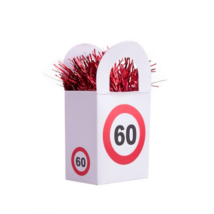 Behajtani tilos 60. születésnapra lufisúly