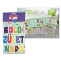 Zászlós Boldog Születésnapot PE asztalterítő 130x180 cm