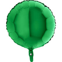 45 cm-es Solid Color zöld, kerek fólia lufi