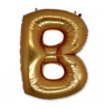 100 cm-es arany színű B betű fólia lufi