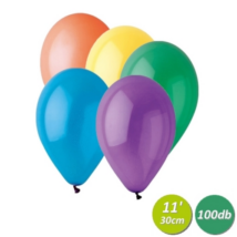 30 cm-es vegyes színű gumi lufi 100 db/cs