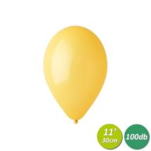 30 cm-es napsárga gumi lufi 100 db/cs