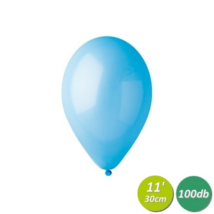 30 cm-es világoskék gumi lufi 100 db/cs