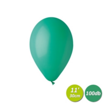 30 cm-es sötétzöld gumi lufi 100 db/cs