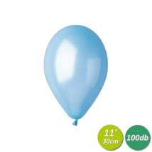 30 cm-es metál világoskék gumi lufi 100 db/cs