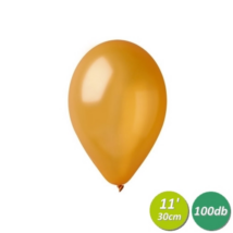 30 cm-es metál arany gumi lufi 100 db/cs