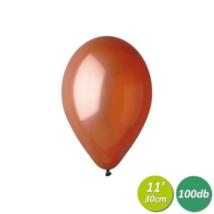 30 cm-es metál barna gumi lufi 100 db/cs