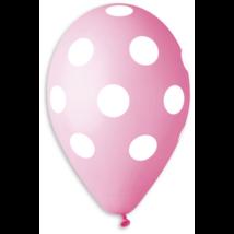 30 cm-es teli pöttyös pink gumi lufi 10 db/cs