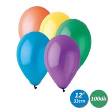 33 cm-es vegyes színű gumi léggömb 100 db/cs