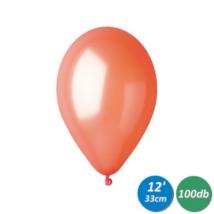 33 cm-es metál narancs gumi lufi 100 db/cs