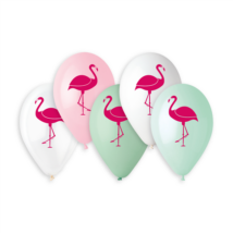 33 cm-es flamingó printelt lufi 10 db/cs