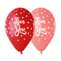 33 cm-es Love you szíves printelt lufi 10 db/cs