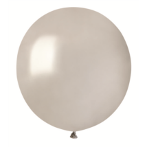 38 cm-es metál ezüst gumi lufi 50 db/cs