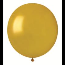 38 cm-es metál arany gumi lufi 50 db/cs