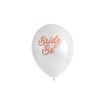 13 cm-es fehér bride to be gumi lufi 10db/cs