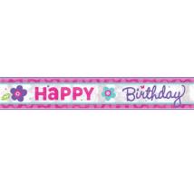 Happy Birthday virágos felirat 762cm