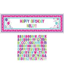 Óriás egyediesíthető Happy Birthday színes felirat 165 x 50 cm