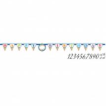 Perszonalizálható Birthday zászló Jumbo 320x25,4 cm