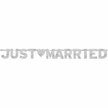 Ezüst Just Married felirat 160 cm