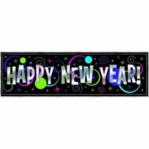 Fényes Happy New Year felirat 1,65 x 51 cm