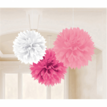 Fehér-v.rózsaszín-s.rózsaszín gömbdekoráció  3 db/cs