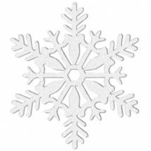 Fehér glitteres hópehely függő dekoráció 10,2 cm 4 db/cs