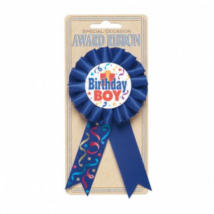 Kék Happy Birthday Boy kitűző