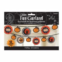 Csillogó fekete-narancs girland halloween-ra 3,65m