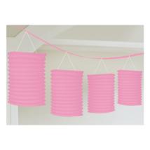 Pink girland lampion 3,65 m