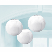 Fehér színű lampion 24 cm 3 db/cs