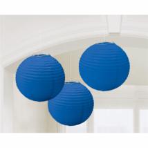 Kék színű lampion 24 cm 3 db/cs