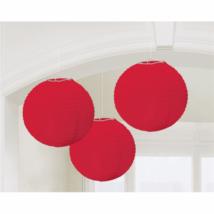Piros színű lampion 20,4 cm 3 db/cs