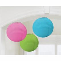 Színes színű lampion 20,4 cm 3 db/cs