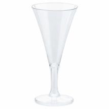 Mini műanyag átlátszó pezsgős pohár 59 ml 20 db/cs