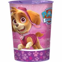 Mancs őrjárat pink műanyag pohár