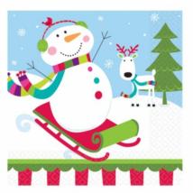Hóemberes szalvéta 33 x 33 cm, 2 rétegű 16 db/cs Ω
