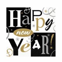 Happy New Year szalvéta 33*33 cm, 16db/cs Ω