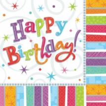 Radiant Happy Birthday szalvéta 33 x 33 cm 16 db/cs Ω